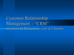 Conceptos Generales de CRM