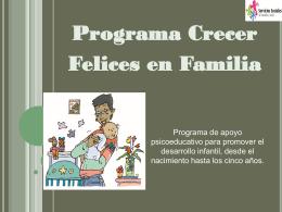 """""""Crecer felices en familia""""(0"""