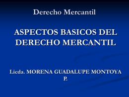 COSAS MERCANTILES I - Bienvenidos