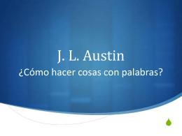 J. L. Austin. ¿Cómo hacer cosas con palabras?