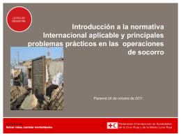 Introducción a la normativa Internacional aplicable y principales