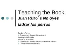 PPT de Juan RUlfo y los cuentos