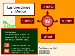México y las direcciones