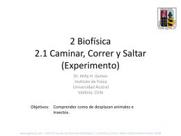 2 Biofísica 2.1 Caminar, Correr y Saltar (Experimento)
