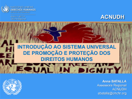 SISTEMA UNIVERSAL DE LOS DERECHOS HUMANOS
