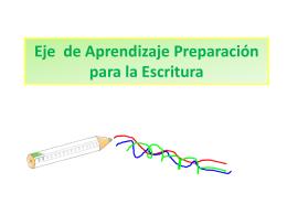 Preparación para la escritura