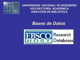Descarga Guía del Uso de la Base de Datos EBSCOhos