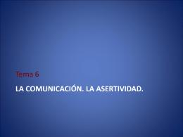 Dinamicas Tema 6 Comunicación y asertividad. Imprimir