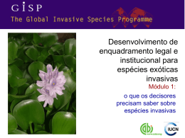 espécie exótica invasiva