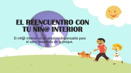 EL REENCUENTRO CON TU NIÑ@ INTERIOR