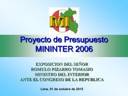 Ministro del Interior - Congreso de la República del Perú