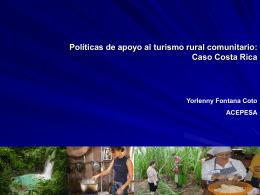 Políticas de apoyo al turismo rural comunitario: el caso
