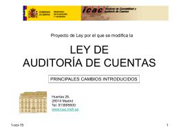 ley de auditoría de cuentas - Colegio de Economistas de Alicante