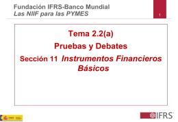 Pruebas y Debates Sección 11 Instrumentos Financieros