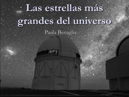 Las estrellas más grandes del universo