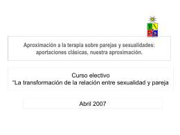 (2007) Aproximación a la terapia sobre parejas y sexualidades