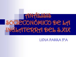 ANÁLISIS SOCIECONÓMICO DE LA INGLATERRA DEL S.XIX