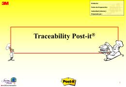 Presentacion Traceability Postit