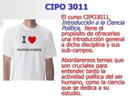 POLITICA - CIPO 3011