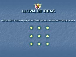 PRIMERO: HAZ UNA LLUVIA DE IDEAS