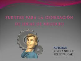 FUENTES PARA LA GENERACIÓN DE IDEAS DE