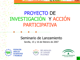 PROYECTO DE INVESITACIÓN Ý ACCIÓN PARTICIPATIVA