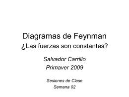Diagramas de Feynman ¿Las fuerzas son constantes?