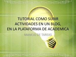 Tutorial como subir el archivo de video en académica