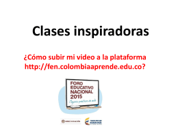 instructivo subir video