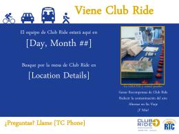 Viene Club Ride