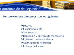 Presentación de los servicios