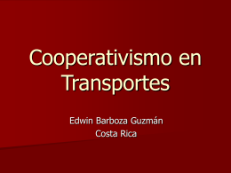 Cooperativismo en Transportes