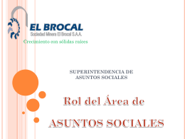 SUPERINTENDENCIA DE ASUNTOS SOCIALES