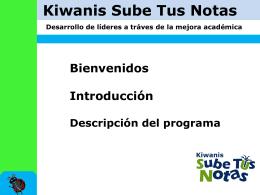 Kiwanis Sube Tus Notas