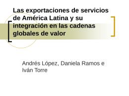 Las exportaciones de servicios de América Latina y su
