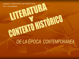 contexto histórico de la época contemporánea.