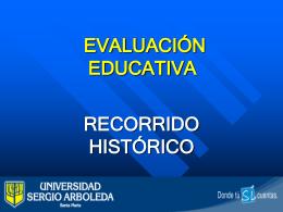 HISTORIA DE LA EVALUACIÓN