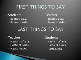 Things to say during class if needed…