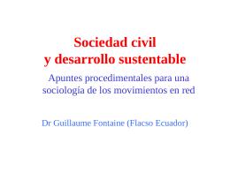 Sociedad civil y desarrollo sustentable