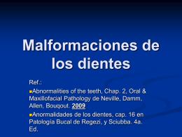 Malformaciones de los dientes