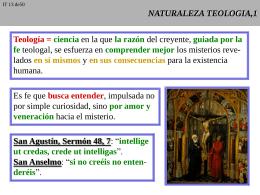 Naturaleza de la Teología