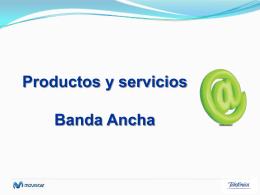 Productos y servicios Banda Ancha