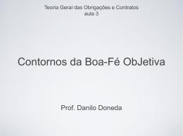 Slides - Boa-fé objetiva - Acadêmico de Direito da FGV