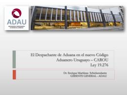 Presentacion CAROU Despachantes