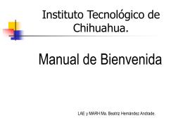 Manual de Bienvenida - ITCh DEPI