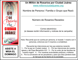 Formato de Recepción Conteo - Un millon de rosarios por la paz en