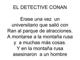 EL DETECTIVE CONAN Erase una vez un
