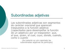 Subordinadas adjetivas - IES Fuente de la Peña