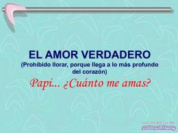 PROHIBIDO LLORAR, PORQUE DE VERDAD