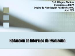 Redacción de informes de evaluación